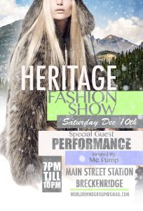 2016 heritage fashion show poster